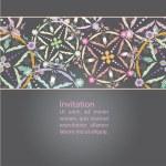 Vector greeting card design. Ornamental invitation template. Vi — Stock Vector #58337149