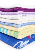 Stack of towels — Stock Photo