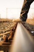 Stepping rails — Stock Photo