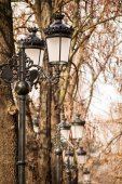 Pedestrian street lighting — Stock Photo