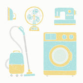 Household appliances set — Stock Vector
