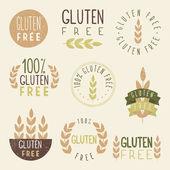 Gluten free labels. — Stock Vector