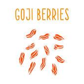 Goji berries. — Stock Vector