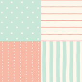 Set of 4 seamless patterns. — Stock Vector