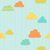 Funny clouds pattern. — Stock Vector