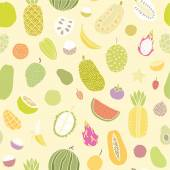 Tropical fruits seamless pattern. — Stock Vector