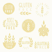 Gluten free badges. — Stock Vector