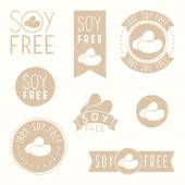 Soy free badges. — Stock Vector
