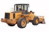Yellow bulldozer — Stock Photo