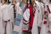 Ukrainian national folk clothes. — Stock Photo