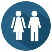 Male and female WC icon — Stock Vector