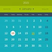 Calendar 2015 January — Stok Vektör
