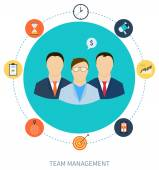 Concept of human resources and teamwork — Stock Vector