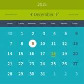 Calendar December 2015 — Stock Vector