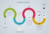 Timeline Infographic business — Stock Vector