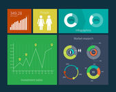 Flat Design Interface Template — Stockvektor
