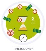 Time is money business concept — Stock Vector