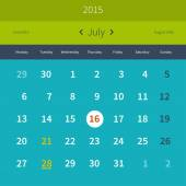 Calendar 2015 July — Stock Vector