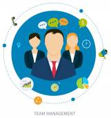 Concept of management — Stock Vector
