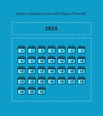 Calendar icons with days of month — Stockvector