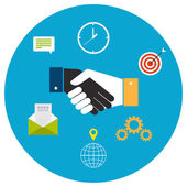 Concept for business cooperation — Vector de stock