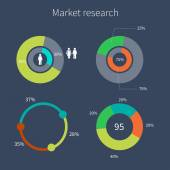 Diagrams market research — Stockvektor