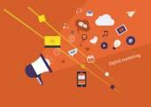 Digital marketing set — Stock Vector