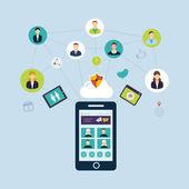 Social network and teamwork — Stock Vector