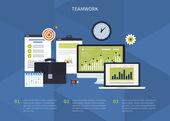 Concepto de trabajo en equipo — Vector de stock