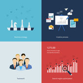 Icons for business strategy — Stock vektor