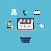 Sklep online i Marketing — Wektor stockowy