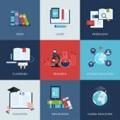 Online education and courses — Stockvektor