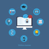 Online education and courses — Stock vektor