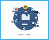 Online education and courses — Stockvector