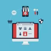 Online shopping, online store — Stock Vector