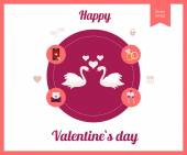 Valentines day, wedding, love icon — Wektor stockowy