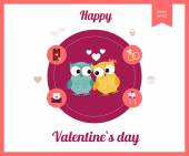 Valentines day, wedding, love icon — Stockvector