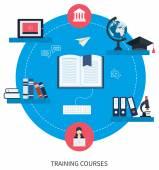 Icons set of online education — Stockvektor