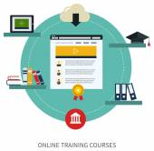 Set of online education and e-learning — Vettoriale Stock