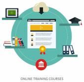 Set of online education and e-learning — Stockvektor