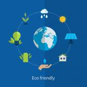 Environment and eco friendly energy icons — Stock vektor