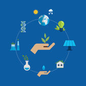 Environment and eco friendly energy icons — Stock Vector