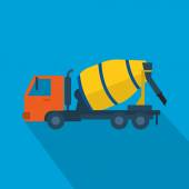 Concrete mixer truck icon. — Stock Vector