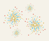 Fireworks  abstract background — Stock Vector