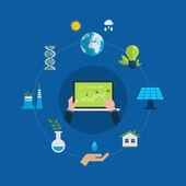 Green energy, ecology concept — Stock Vector