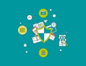 Data protection concept. — Stock Vector