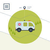 First aid and positioning navigation — Stockvektor