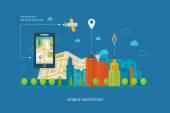 都市風景や都市生活のセット — ストックベクタ