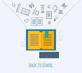 Icons of online education — Wektor stockowy