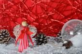 Christmas decorations, Christmas ball, background, christmas wallpaper, christmas card — Stock Photo